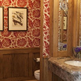Sara Gilbane Interiors | Country-Sea | Powder Room