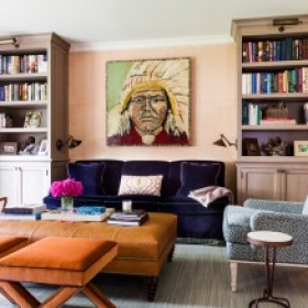 Sara Gilbane Interiors   Country-Sea   Living Room