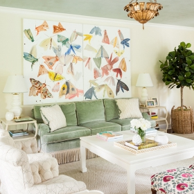 Sara Gilbane Interiors | Country-Sea | Living Room